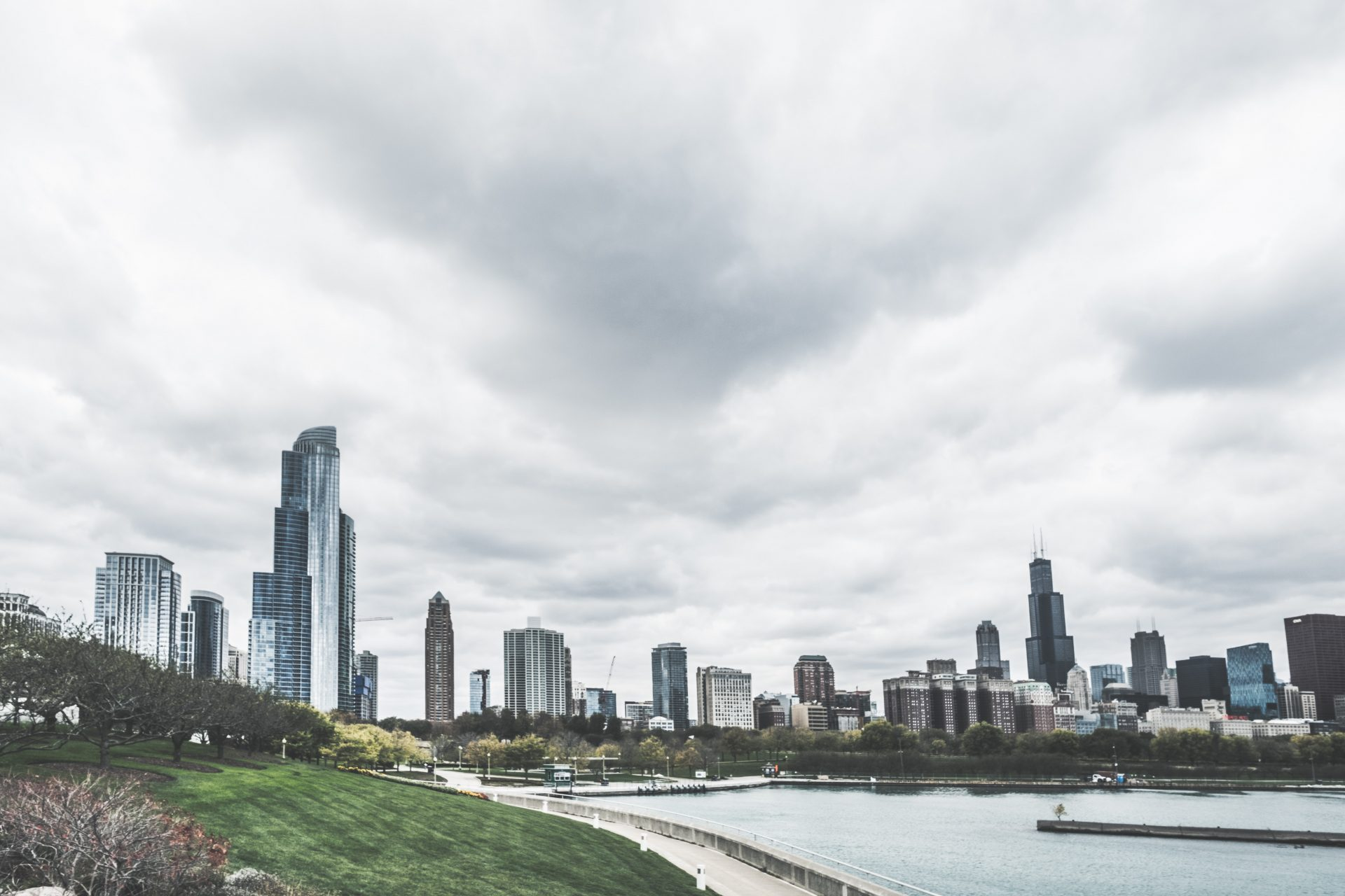 View of Chicago's skyline from the South Loop