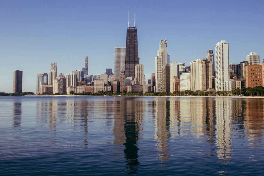 View of the downtown Chicago skyline