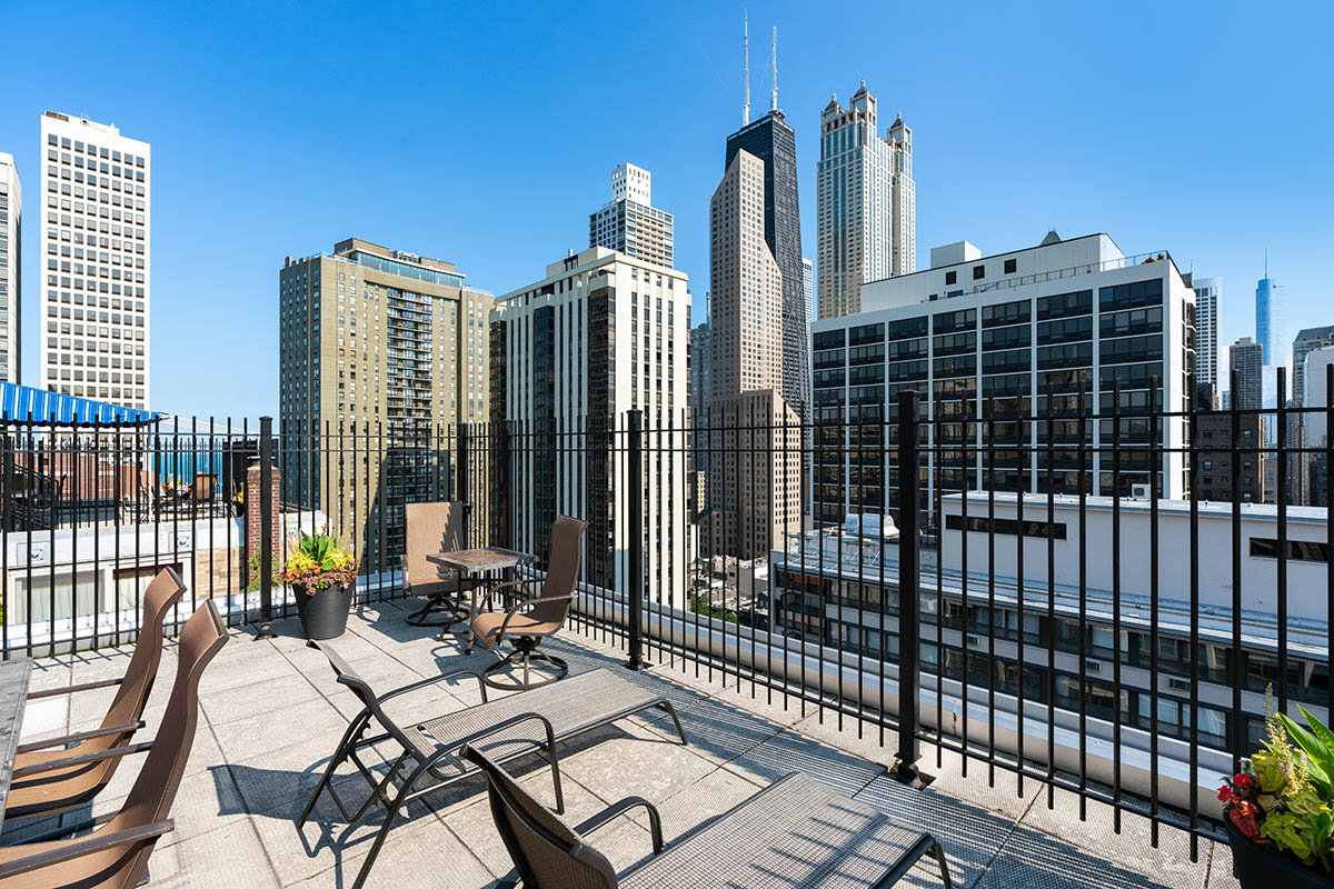 Views from a downtown multifamily condo in Chicago