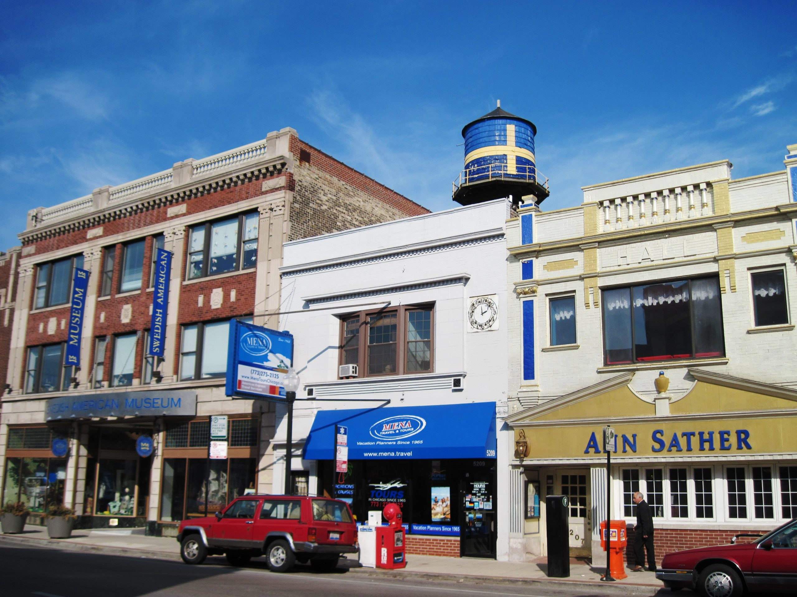 Small businesses and shops in Andersonville, Chicago