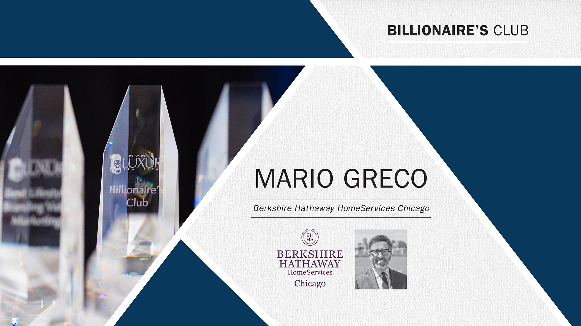 MG Group Receives Who's Who In Luxury Real Estate Billionaire's Club Award