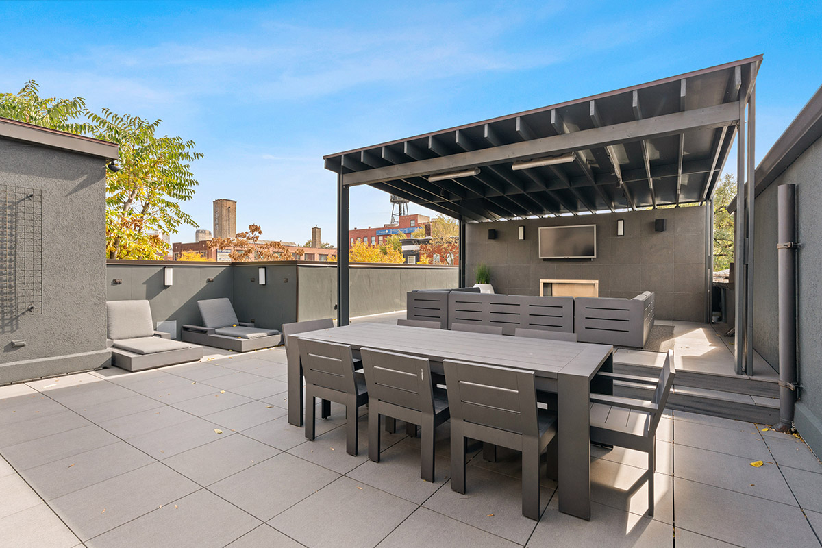 Photo of a Chicago patio, featured in The Wall Street Journal