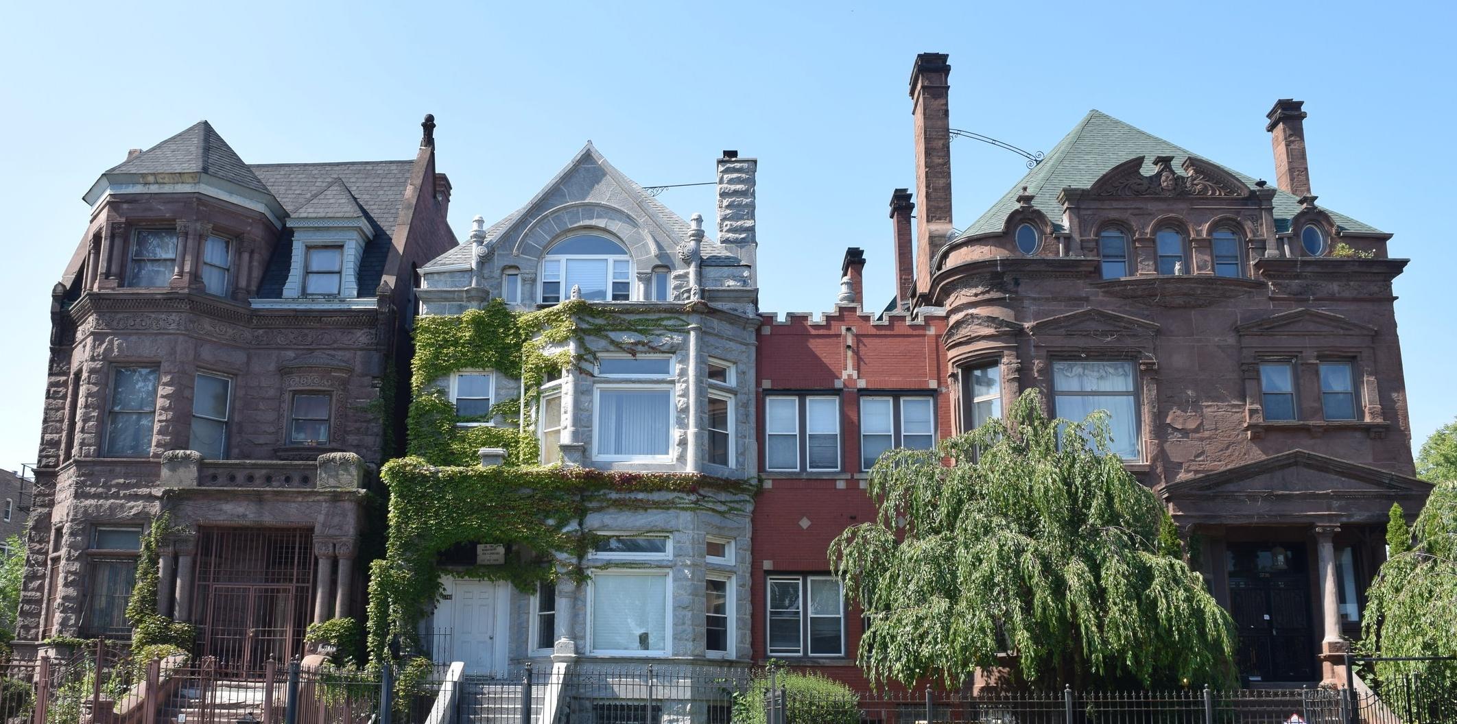 Homes of Bronzeville neighborhood in Chicago