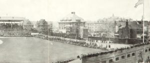 A view of the Weeghman Park outfield taken in April 1914