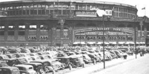 An old photo of Comiskey Park