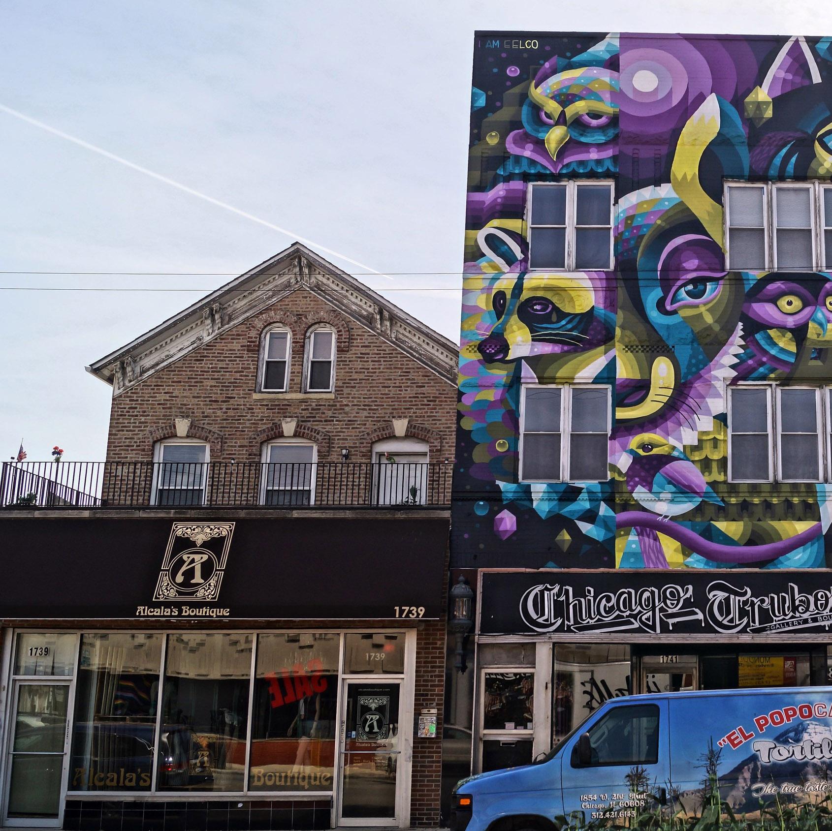 Street art in West Town, Chicago
