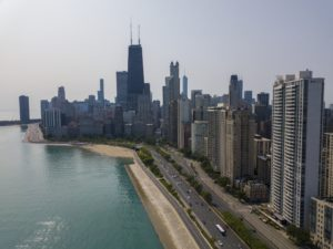 A view of Lakeshore from Chicago's north side.