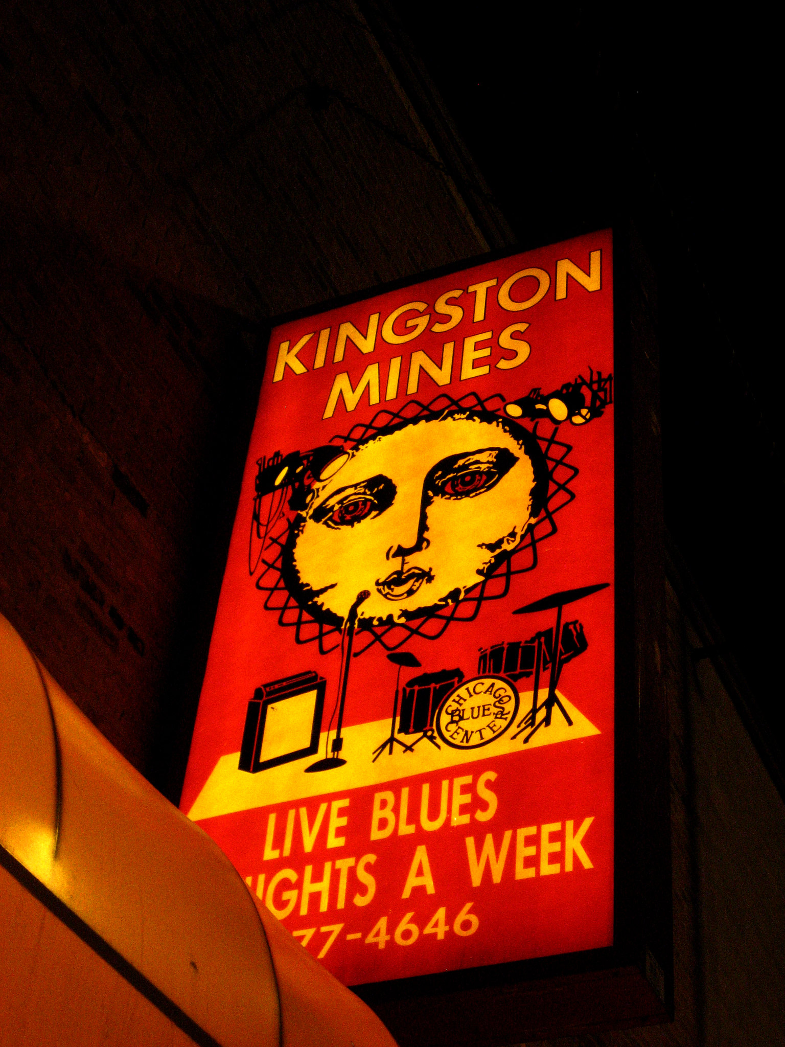 Kingston Mines sign